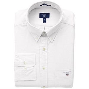 Gant (marque) The Oxford Shirt Reg BD Chemise Casual, Blanc (White 110), Small Homme