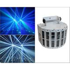 Ibiza Light LED DERBY - Effet de lumière à 8 canaux DMX
