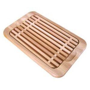Ecodis Planche à pain avec grille en bois