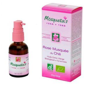 Mosqueta's Huile de rose musquée + HE de Rose de Damas Bio 30 ml