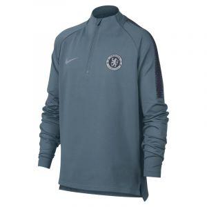 Nike Haut de football à manches longues Chelsea FC Dri-FIT Squad Drill pour Enfant plus âgé - Bleu - Taille L