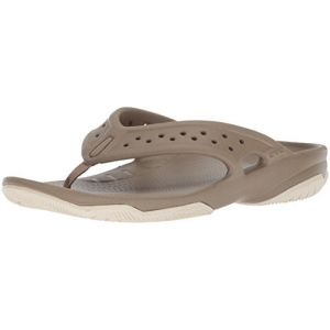 Crocs Swiftwater Deck Flip Men, Tongs Homme, Marron (Khaki/stucco) 46/47 EU