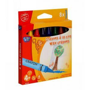 Lefranc & bourgeois Boîte de 8 Crayons Jumbo COLOR&CO - CIRE - 14mm