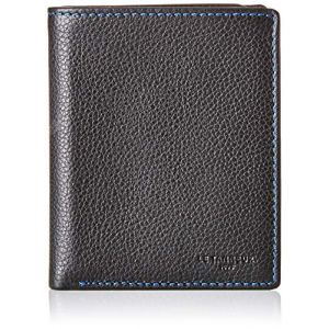 Le Tanneur Porte-cartes classique et élégant en cuir grainé de la ligne Charles de .<br>Il se compose de deux volets et contient 3 emplacements au format carte bancaire, 4 poches plates dont une tranparentes pour papiers d'identité et 1 poche à billets av