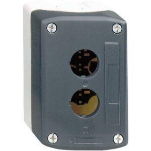 Schneider Electric Boîte à bouton vide 2 perçages IP65 coloris gris foncé, gris clair XALD02 Harmony