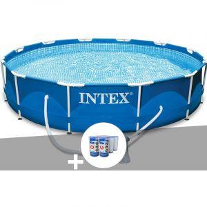 Intex Kit piscine tubulaire Metal Frame ronde 3,66 x 0,76 m + 6 cartouches de filtration