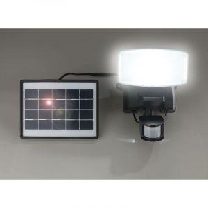 Projecteur Wetelux solaire LED de 1000 lm avec module solaire et détecteur de mouvement, ip44