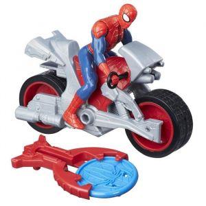 Hasbro Figurine Spiderman Blast 'n Go Kid Arachnid avec quad
