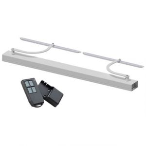 Wimove Motorisation volets 2 battants WINEO radio - baie de 800-1500 mm - carter blanc - bras blanc -