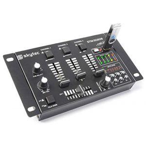Skytec 172976 Stm-3020 Mélangeur à 4 canaux avec USB/MP3 Noir