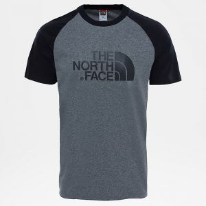 The North Face Raglan Easy T- T-Shirt Homme, Gris (TNF Medium Grey Heather (STD), M