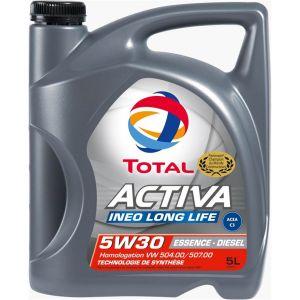 Total Huile moteur Activa Ineo Long Life 5W30 Essence et Diesel 5 L