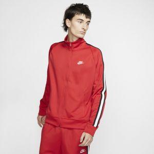 Nike Veste de survêtement en maille Sportswear N98 pour Homme - Rouge - Taille XL