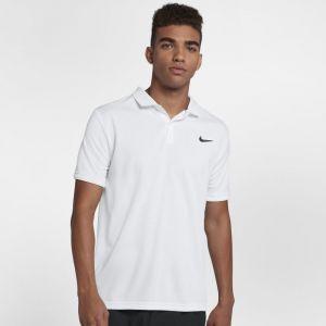 Nike Polo de tennis Court Dri-FIT Team pour Homme - Blanc - Taille L - Homme