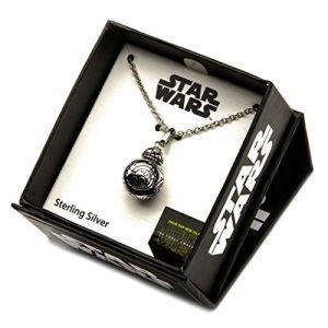 Pendentif avec chaîne en argent Star Wars BB-8 Lead 3D
