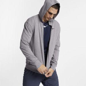 Nike Sweatà capuche de training entièrement zippé DriFIT pour Homme Gris Couleur Gris Taille S