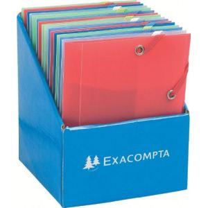 Exacompta Chemise à élastiques 3 rabats Pocket (12 x 16 cm)