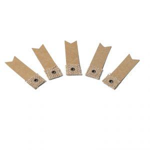 10 étiquettes kraft et jute (2 x 7 cm)