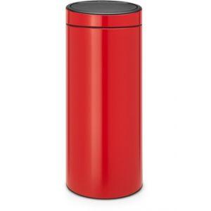 Brabantia Poubelle à pression neuve - 30 litres - Rouge passion