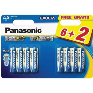 Panasonic Pile LR06 AA 6+2