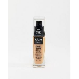 NYX Cosmetics Can't Stop Won't Stop - Fond de Teint Liquide Couvrant Tenue Waterproof, Fini Mat - Medium Buff - 24 h