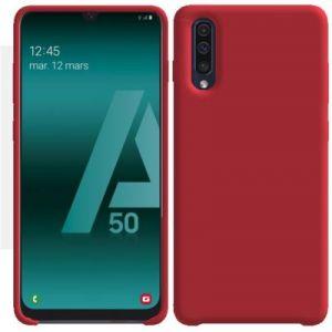 Ibroz Coque Samsung A50 Liquid Silicone rouge
