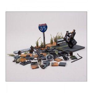 MCFarlane Toys Jeu de construction : The Walking Dead Daryl Dixon with Chopper (154 pièces)