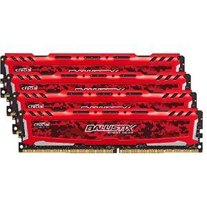 Crucial BLS2C4G4D240FSE - Barrette mémoire Ballistix Sport LT Kit 8 Go (2 x 4 Go) DDR4 2400 MHz