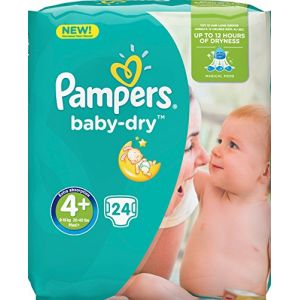Pampers Baby Dry taille 4+ 9-18 kg - 24 couches