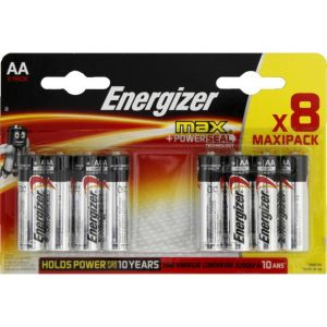 Energizer 8 piles AA/LR6 Alkaline Max +Power Seal