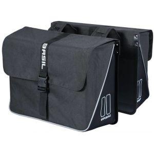 Basil Sacoches de porte bagage forte double 35l noir
