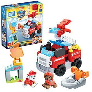 Mega Bloks La Pat'Patrouille : Le film, Camion de Pompier de Marcus, 32 blocs de construction et 2 figurines, jouet pour bébé et enfant dès 3 ans, GYJ01