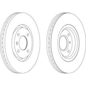 Ferodo DDF1152 - Jeu de 2 disques de frein