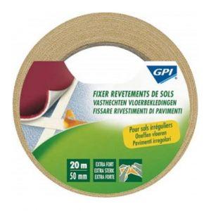 GPI 743316 - Lot de 2 rouleaux d'adhésif double face extra-fort spécial revetements de sols 20 m x 50 mm