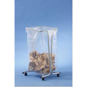 Mottez Support sac poubelle fixe 100-110 litres zingué sur roulettes B016CNM