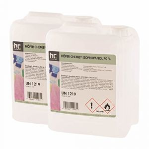 Höfer Chemie 2 x 5 L alcool isopropylique 70%