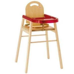 Combelle Lili - Chaise haute bois naturel