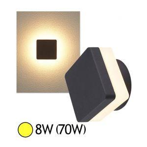Vision-El COB CARREE - Applique murale extérieure LED Gris 8W