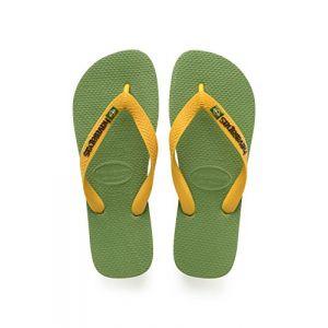 Havaianas Brasil Logo, Tongs Mixte Adulte, Vert (Green Bamboo), 35/36 EU (33/34 Brazilian)
