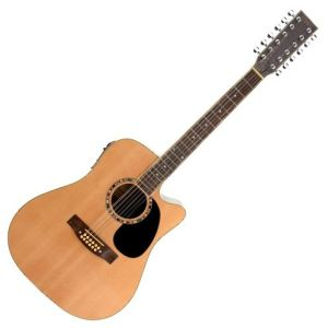 Classic Cantabile WS-12 - Guitare électro-acoustique 12 cordes avec Pre Ampli / EQ