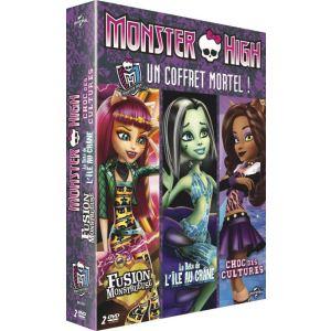 Monster High - Un coffret mortel! : Fusion monstrueuse + Choc des cultures ! + La Bête de l'Île au Crâne