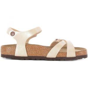 Birkenstock Mules KUMBA Sandales et pantoufles Femme Blanc perlé