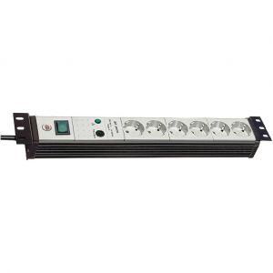 """Brennenstuhl Premium-Line protection de surtension 30.000 A 6 prises noir/ gris clair 3 m H05VV-F 3G1,5 19"""""""" format"""