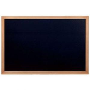 Securit Ardoise murale Woody - cadre en bois teck - livré avec un feutre craie blanc - L60 x H80 cm