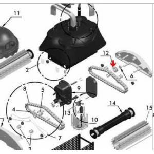 Procopi 1017023 - Roulette large de guide chenille Star Vac II