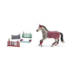 Schleich Figurines de chevaux et parcours de saut d'obstacles (jument )