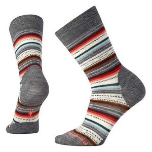 Smartwool Chaussettes Margarita - Medium Gray Heather / Bright Coral - Taille M