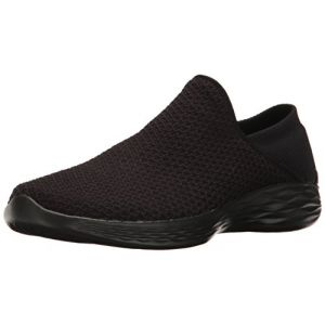 Skechers You, Sneakers Basses Femme, Noir (BBK), 36 EU