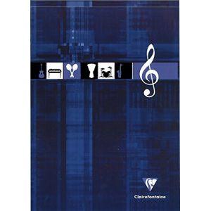 Clairefontaine 6157C - Bloc Musique Metric 210x297, 100p./50 feuilles 90 g/m² encollé, 12 portées