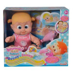 Simba Toys Bouncin Babies Bonny flottant avec dauphin, 35cm